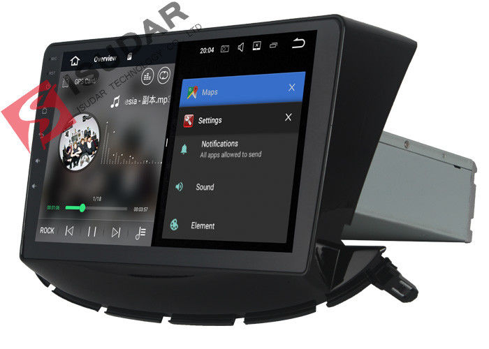 Black Dual Din Android Auto Car Stereo For Chevrolet Trax Navigation GPS Radio